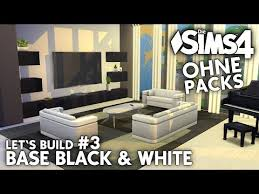 die sims 4 haus bauen ohne packs base black white 3