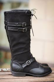 running into town tall lace up boots black nanamacs boutique