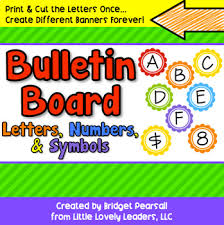 Bulletin Board Letters and Numbers Decoration by Little Lovely Leaders