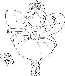 Butterfly Fairy Coloring Pages In