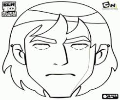 Kevin Levin Mask Spidermonkey Ben10 AlienForce Coloring Page