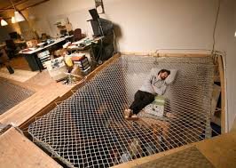 Net Bed hammock style Mattress alternative