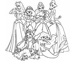 Disney Princess Black And White Clipart