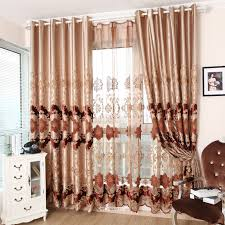 Sound Reducing Curtains Uk by Embroidery Sound Dampening Curtains With Coffee Color