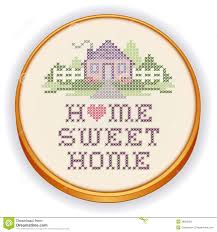 Embroidery Home Sweet Home Cross Stitch, Wood Hoop Stock Vector ... Lli Home Sweet Where Are The Best Places To Live Australia Cross Stitched Decoration With Border Design Stock Ideas You Are My Art Print Prints Posters Collection House Photos The Latest Architectural Designs Indian Style Sweet Home 3d Designs Appliance Photo Image Of Words Fruit Blur 49576980 3d Draw Floor Plans And Arrange Fniture Freely Beautiful Contemporary Poster Decorative Text Stock Vector