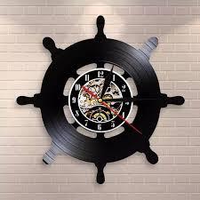 kapitän schiff rad wand kunst schiff lenkung wohnzimmer wand dekor vinyl record wanduhr reise meer segeln mariner sailors geschenk