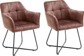 mca furniture esszimmerstuhl panama 2er set vintage veloursoptik mit keder stuhl belastbar bis 120 kg rot esszimmerstühle esszimmersessel