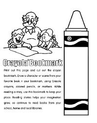 Crayon Bookmark Coloring Page