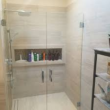 check out the custom shower nitch we designed we will bring your