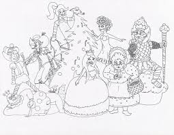 Candy Land Characters Coloring Pages