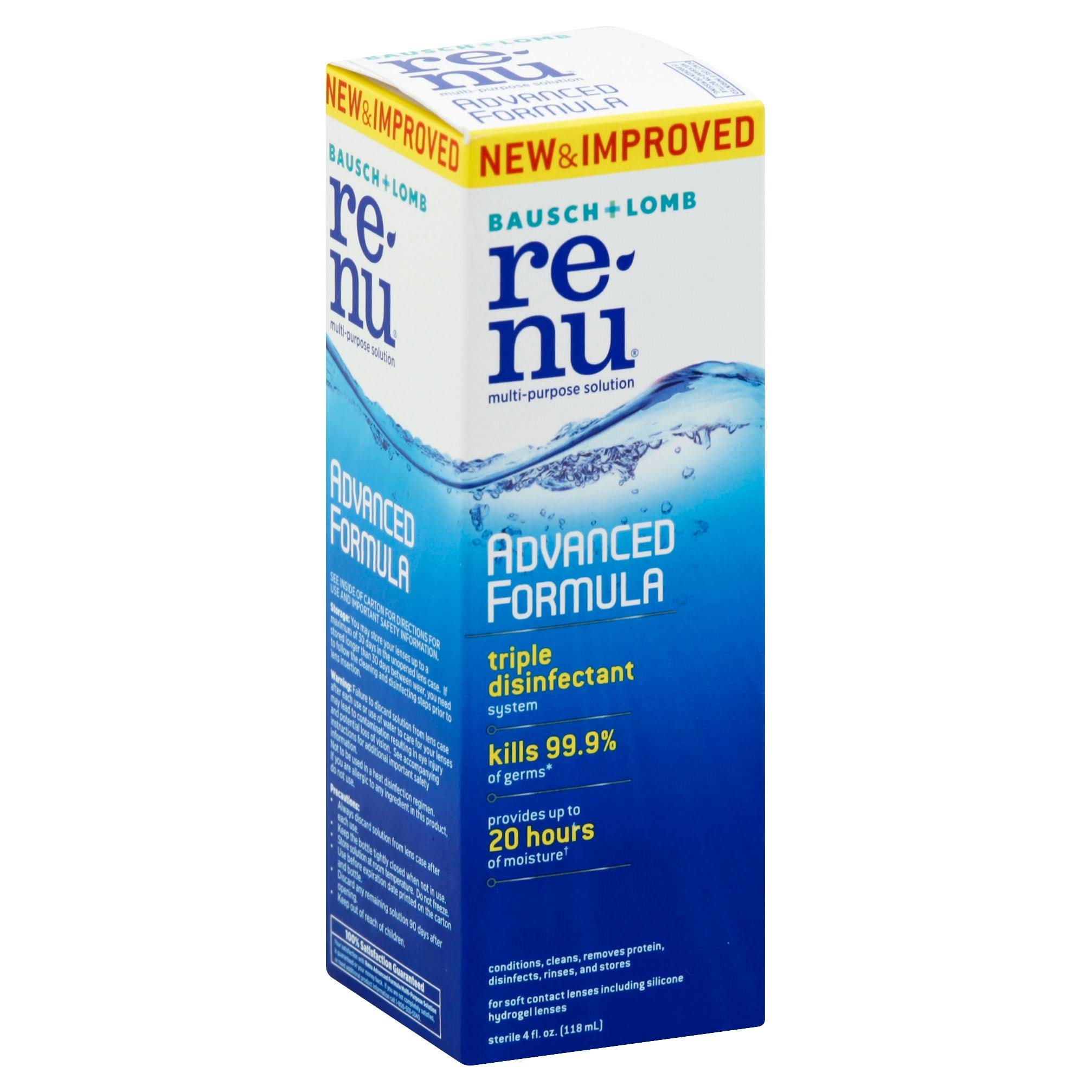 Renu Advanced Formula Multi Purpose Contact Lens Solution - 4oz