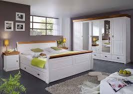 schlafzimmer set napoli 5 türiger kleiderschrank bett 180x200 u 2 nachtkonsolen pinie nordica weiss