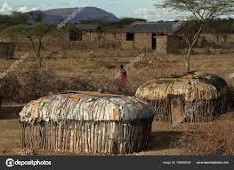 100 Houses F Village And Houses Of The F Samburu Tribe In Kenya Stock Photo