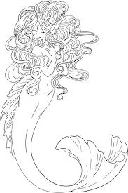Realistic Mermaid Coloring Pages For Adults Barbie Games Freebie Colouring Page Print Embroidery Pillow Little