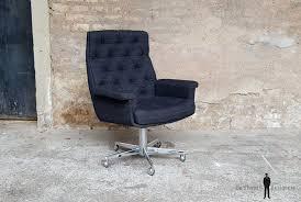 fauteuil de bureau tissu de bureau vintage en tissu sur pivotant