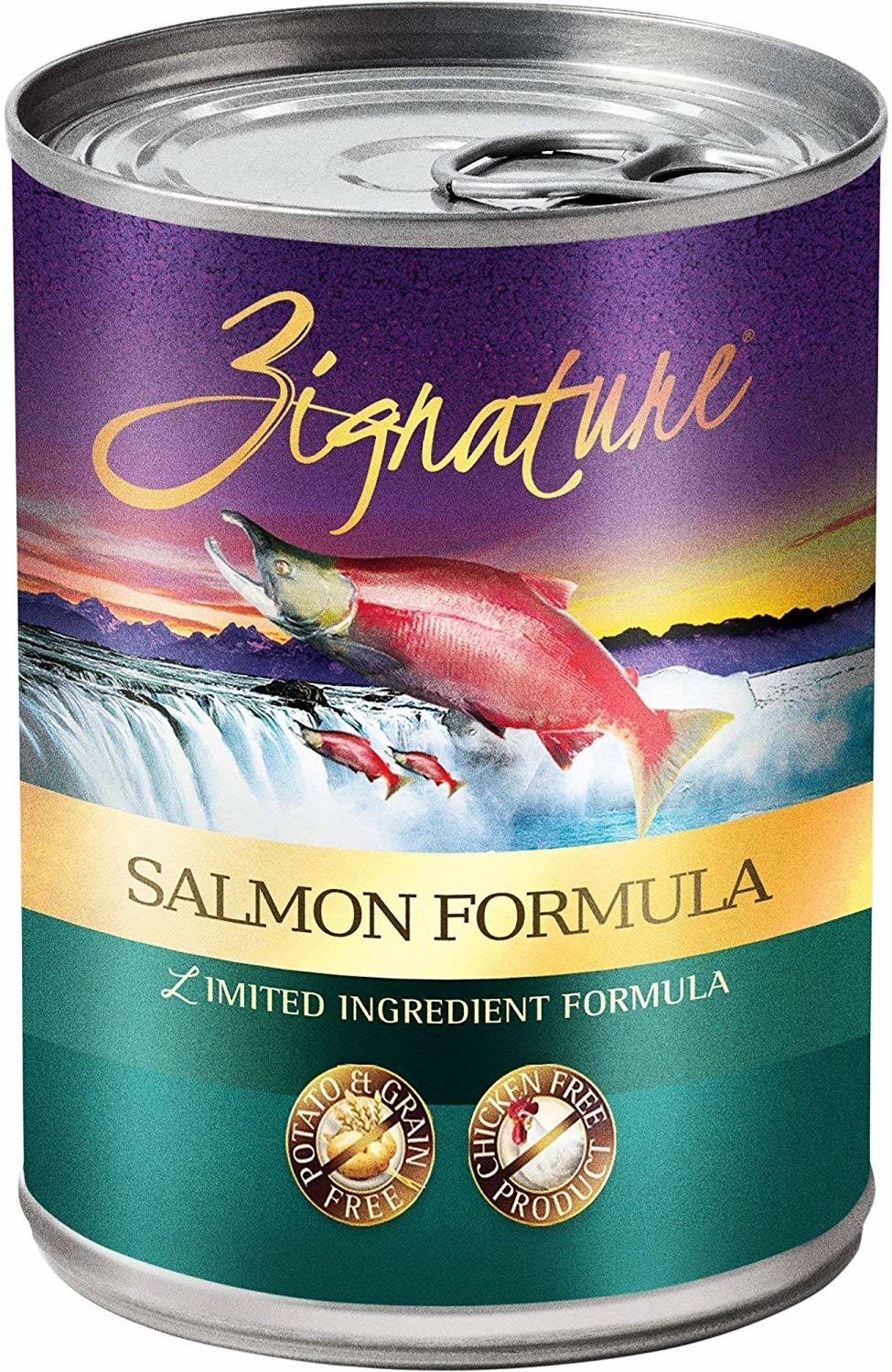 Zignature Limited Ingredient Canned Dog Food Salmon 13 oz