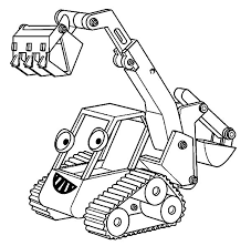 Bob The Builder Excavator Coloring Pages