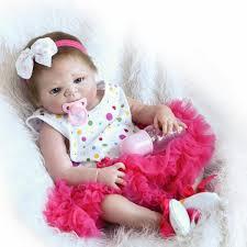 22inch Reborn Baby Doll Handmade Lifelike Newborn Girl Doll Play