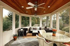 Coastal Ceiling Fan Porch Traditional With Potted Plants Round Dining Table Patio Furniture