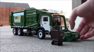 First Gear 1:34 Scale Model Front-Load Garbage Truck - YouTube