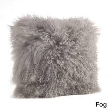 Mongolian Lamb Fur Throw Pillow Free Shipping Today Overstock