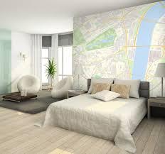 Custom Postcode wallpaper Contemporary Bedroom London by
