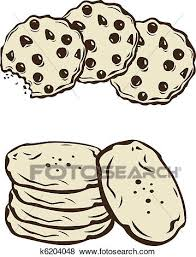 Clip Art Cookies Fotosearch Search Clipart Illustration Posters Drawings and