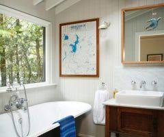 Cars Bathroom by Vintage Cars Shed Eclectic With Steel Beam Ceiling Seattle Door