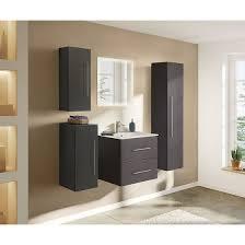 badezimmer badmöbel hochschrank hängeschrank homeline 150cm anthrazit seidenglanz