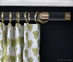 acrylic curtain rods with brass hardware drapery rods hardware