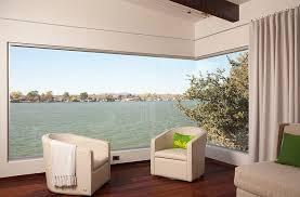 View In Gallery Corner Glass Window Brings The Outdoors Inside Design Dick Clark Associates