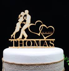 ₩Free Shipping Personalized Wood MR MRS Wedding Cake Topper Wedding