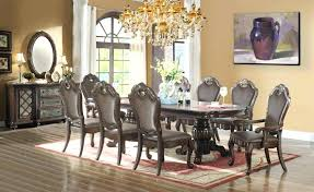 Formal Dining Room Table With 8 Chairs Glass
