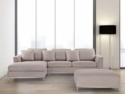 canape d angle beige canapé d angle d canapé avec pouf en tissu beige sofa oslo