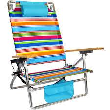 100 Aluminum Folding Lawn Chairs Heavy Weight Titan Lay Flat Beach Chair Tropicana Stripe