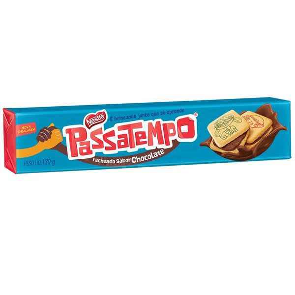 Bisc. Nestle Passatempo Chocolate - 130g
