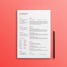 Free Red Minimal Resume Template