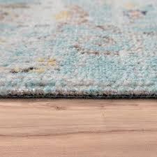 paco home teppich artigo 401 rund 4 mm höhe kurzflor vintage design in und outdoor geeignet wohnzimmer