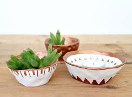 Air Dry Clay Pots And Tealights