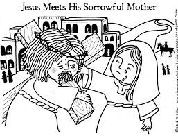 Free Printable Coloring Page LENT Way Of The Cross Sorrowful Mother