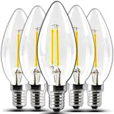 bonlux 2 watt e12 c35 led filament candelabra light bulbs 25
