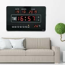 digitaltuhr led digital wanduhr mit datum temperatur