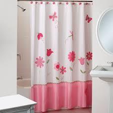 Small Bathroom Window Curtains Amazon by Amazon Com Saturday Knight Butterfly Garden Fabric Shower Curtain