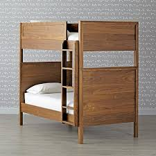 taylor walnut twin over twin bunk bed the land of nod