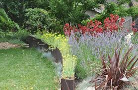 corten steel planters landscape contemporary with canvas outdoor