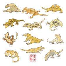 Baby Halloween Crested Gecko by Reptile Sticker Packs Leopard Gecko Crested Gecko Ball
