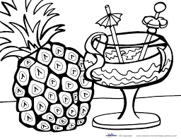 Free Printable Luau Coloring Pages Flower