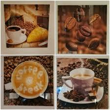 glasbilder bild bilder deko kaffee tasse kaffeebohnen küche 30 cm