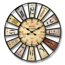 Full Image For Ergonomic Large Colourful Wall Clock 95 Multi Colored Bistro