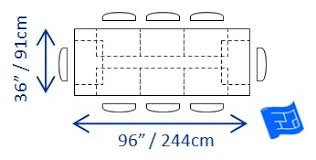 Dining Table Size For 8